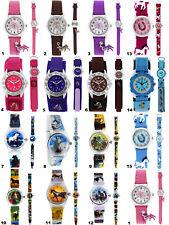 Armbanduhren Kinder Mädchen Pferde Uhr Kinderuhr Lernuhr Kinderarmbanduhr Pferd