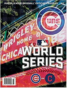 Lot of 10 Brand New Chicago Cubs Cleveland Indians World Series Programs Go Cubs