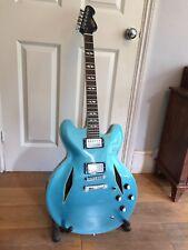 Vintage VSA540 Pretender Semi Acoustic Guitar Pelham Blue Dave Grohl like DG335