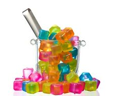NEW Reusable Plastic Ice cubes Pack of 18 Colors May Vary BPA Free