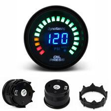 2'' 52mm Digital Analog LED Car Oil Pressure Gauge Meter 0-120 Psi with Sensor