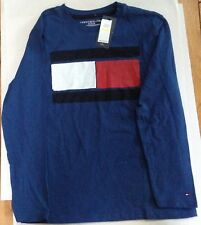 NWT TOMMY HILFIGER BOYS INDUSTRY BULE LONG SLEEVE T-SHIRT MEDIUM 12/14 $29.50