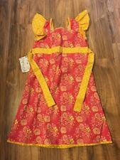 GIRLS SIZE 6 Hopscotch Boho Boutique Yellow Pink Floral Dress ❤️