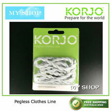 NEW KORJO PEGLESS CLOTHES LINE --GOOD FOR TRAVEL, CAMPING