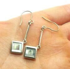 Fine Mother of Pearl Sterling Silver 925 Earring 3g WEN562j