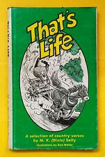 That's Life, A selection of country verses, M.K. Solly, hardcopy, free shipping