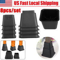 8 Pack Adjustable Table Chair Bed Riser Furniture Lift Bed Leg Support Base US