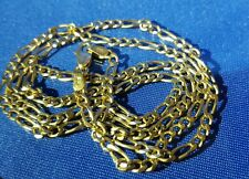 14k yellow solid gold figaro chain,24 inch,5mm
