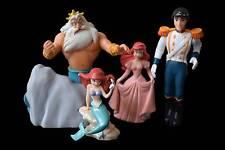 Disney Little Mermaid Ariel Prince Eric Triton PVC Figures Cake Toppers Lot of 4
