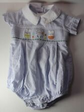 Zuccini Baby 9 Months EASTER Bunny Eggs Smocked Romper