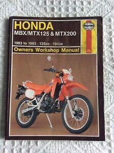 Honda Mtx 125 Manuals