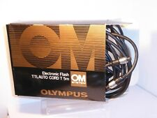 BOXED OLYMPUS TTL Auto Cord T - 5m , 5 METERS LONG , GOOD CONDITION