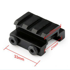 "1/2"" 3 Slot Low Riser 20mm WEAVER PICATINNY Rifle Base Scope Mount Rail  TSUS"