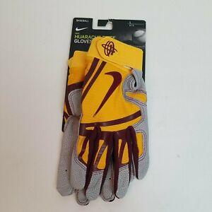 NIKE HUARACHE ELITE Adult Baseball Batting Gloves- PGB580-710 Size L NCAA UMN