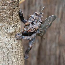 Winged Long Haired Fairy Tree Peeker Unique Branch Hugger Garden  Ornament