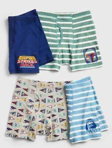 New Gap Kids Boys 4 Pack Boxer Briefs Underwear 5 7 8 10 12 14 Years Star Wars