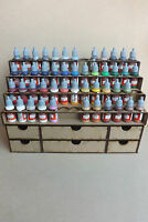 Paint Stand 52 bottle rack storage drawer for warpaint Vallejo, wargames, hobby