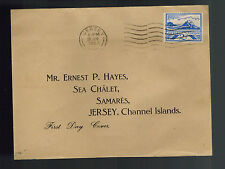 1943 Jersey England Channel Islands Occupation First Day Cover Fdc