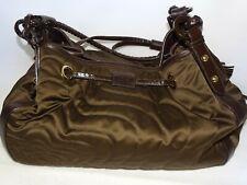 Montblanc Damen Handtasche Nylon Leder Braun Bag