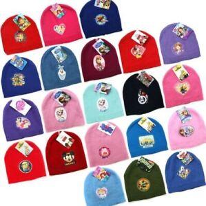 Boys Girls Kids Winter Hat One Size Knitted Official Disney Marvel Avengers New