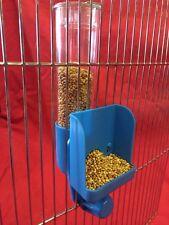 Comederos Para Aves semilla Clipper Fuente Externa Budgie Canarias Finch Periquitos Azul