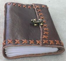 Classic Luxury Genuine Leather Journal II (HANDMADE)-Lock/ Instagram Photo Album