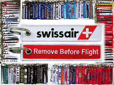 Keyring SWISSAIR 1990s Logo Remove Before Flight tag keychain