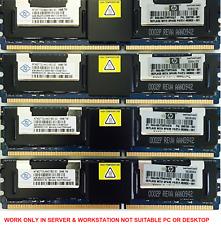 Memory Ram DDR2 PC2 5300F HP Workstation XW6400 & XW6600 XW8400 XW8600 2x Lot GB