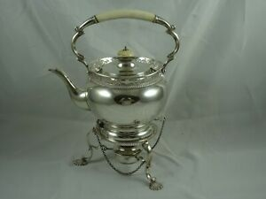 SUPERB, EDWARDIAN silver KETTLE ON STAND, 1909, 1295gm