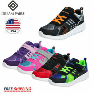 DREAM PAIRS Boys Girls Running Shoes Breathable Lightweight  Athletic Sneakers