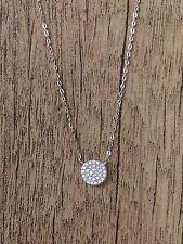 Nadri, 'Geo' Small Pendant Necklace, Rhodium Plate/ Cubic Zirconia