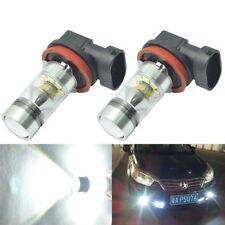 2x 100W H11 H8 High Power Samsung 6000K Xenon White LED Fog Driving Light Bulbs