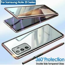 360 Magnetic Adsorption Full Double Glass Case For Samsung Note 20 Ultra S20Plus