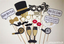 16pcs 2018 Year's Eve Party Card Masks Photo Booth Props Mustache Xmas Party