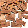 50pcs Handmade 2 Holes Flat Craft Wooden Buttons 30mm Tags DIY Clothing Access