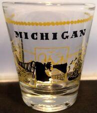 MICHIGAN SCENERY YELLOW SHOT GLASS SHOT GLASS SOUVENIR BARWARE