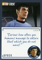 Star Trek TOS Archives & Inscriptions card #2 Spock Variation 6 out of 26
