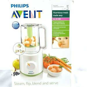 Philips Avent 2 In 1 Baby Food Maker Combined Steamer and Blender BPA White New