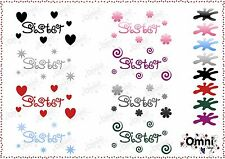 Sister Vinyl Wine Glass, Mug Decals, Stickers, Mothers Day Gift Idea