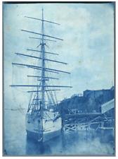 "Ancien bateau ""Sayre"". Vintage ship ""Sayre""  Vintage print.  cyanotype  11x1"