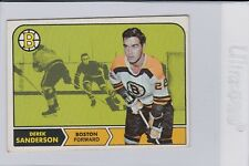 1968-1969 Topps Derek Sanderson #6 Hockey Card Boston Bruins