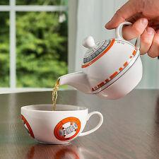 STAR WARS BB-8 CERAMIC TEAPOT & MUG SET BRAND NEW IN BOX GREAT GIFT TEA FOR ONE