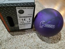 """Hammer Purple Pearl Urethane 1st Quality Bowling Ball 