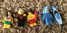 LEGO Series 3 15  Minifigure Lot SURFER Lifeguard HULA GIRL SHARK  Beach CMF