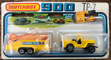 1978 Matchbox 900 TP-7 #5 US Mail Truck (Yellow Jeep) & Glider Transporter