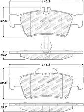 StopTech Disc Premium Brake Pad Set for 02 - 06 Mercedes-Benz S500 # 308.09860