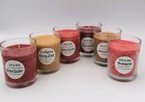 Wintertraum - 6 Stück Duftgläser verschiedene Düfte - Reidel Kerzen