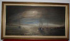 Huile sur toile marine,Oil painting  signée