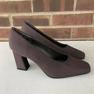 Mootsies Tootsies Brown Slip On Chucky Heel Pump Vintage Women's Size US 6.5 M