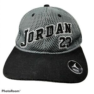 Jordan Youth Snapback Hat 23 Gray Black Michael Shoes Sneakers Jumpman